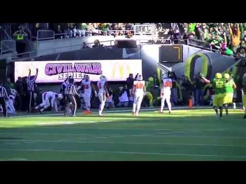 Great Play by Oregon's Bralon Addison to score vs OSU