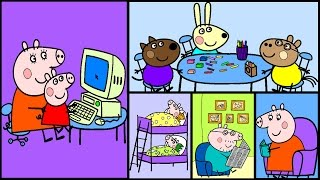 Peppa Pig Coloring Pages Part 3 - Peppa Pig Coloring Games