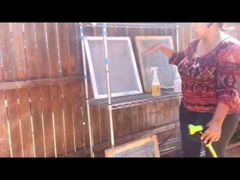 Cleaning & Reclaiming Screens Outside - Make Money Screen Printing
