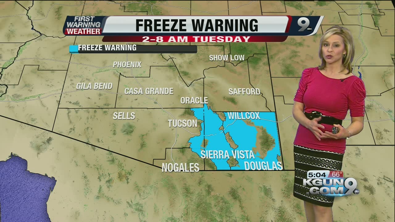 Chief meteorologist erin christiansen s kgun 9 forecast monday