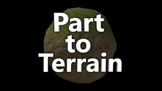 How to get Part To Terrain Plugin | Roblox Studio *outdated*