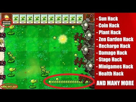 Plant Vs Zombies Ultimate Hack ( SUN HACK, COIN HACK, ZEN GARDEN HACK , AND MORE )