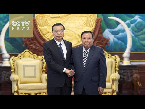 Chinese premier meets with Laotian president, promising investment