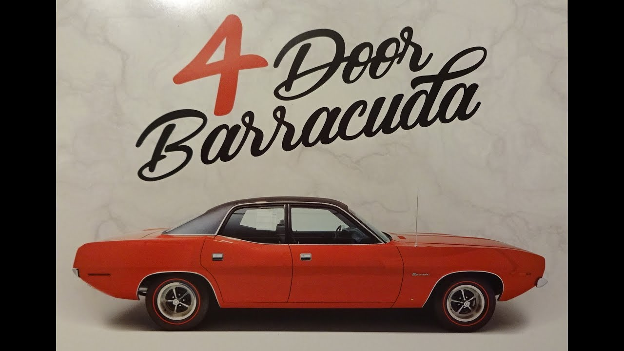 plymouth 4 door barracuda cuda in red u0026 engine sound on my car story with lou costabile