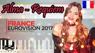 Alma - Requiem (France) Eurovision 2017 [Piano Tutorial | Sheets | MIDI] Synthesia