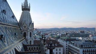 Собор Святого Стефана в Вене, вид с Северной башни (Vienna St Stephan)(Собор Святого Стефана - один из главных соборов и известная достопримечательность Вены. В двух его башнях..., 2014-02-20T19:54:20.000Z)