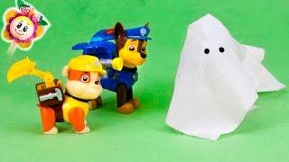 La PATRULLA CANINA y PEPPA PIG: 😱 la caza del FANTASMA |Marshal sonámbulo con disfraz de Halloween