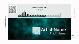 Audio Spectrum / Music Visualizer Concept S4 (Tasty Network White) - FREE After Effects Template