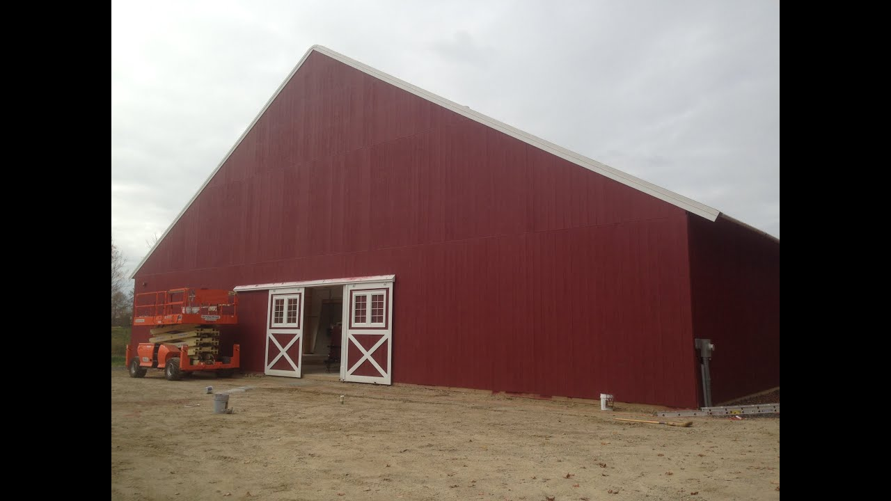 Spray Painting Huge Horse Barn Interior And Exterior Youtube