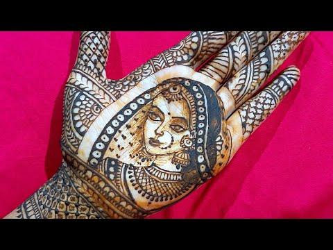 Simple Easy Bridal Mehndi Design 2020-dulhan Kaise Banaye-bride Making Using Henna-how To Draw Bride