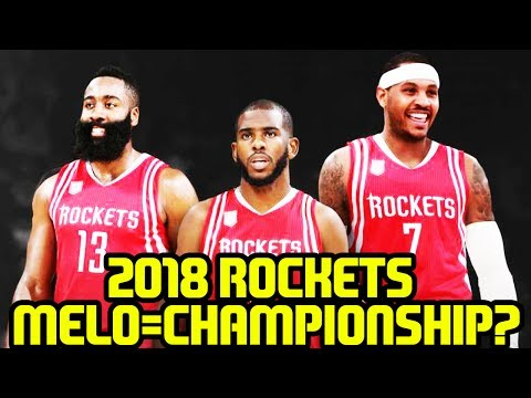 CAN THE 2018 ROCKETS WIN WITH CARMELO ANTHONY? SEASON SIMULATION NBA 2K17 MYLEAGUE