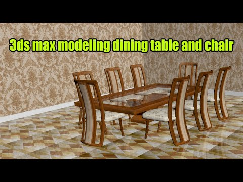3ds max dining table modeling Tutorial a stylish dinning table and chair in 3ds max 2018 thumbnail