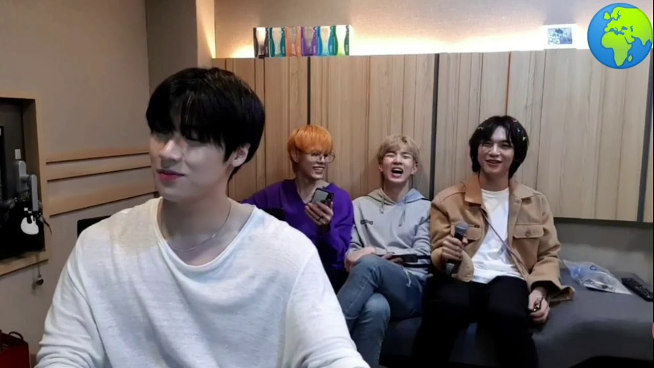 N.Flying's dumb maknaes singing bday song but with autotune microphone [엔플라잉]