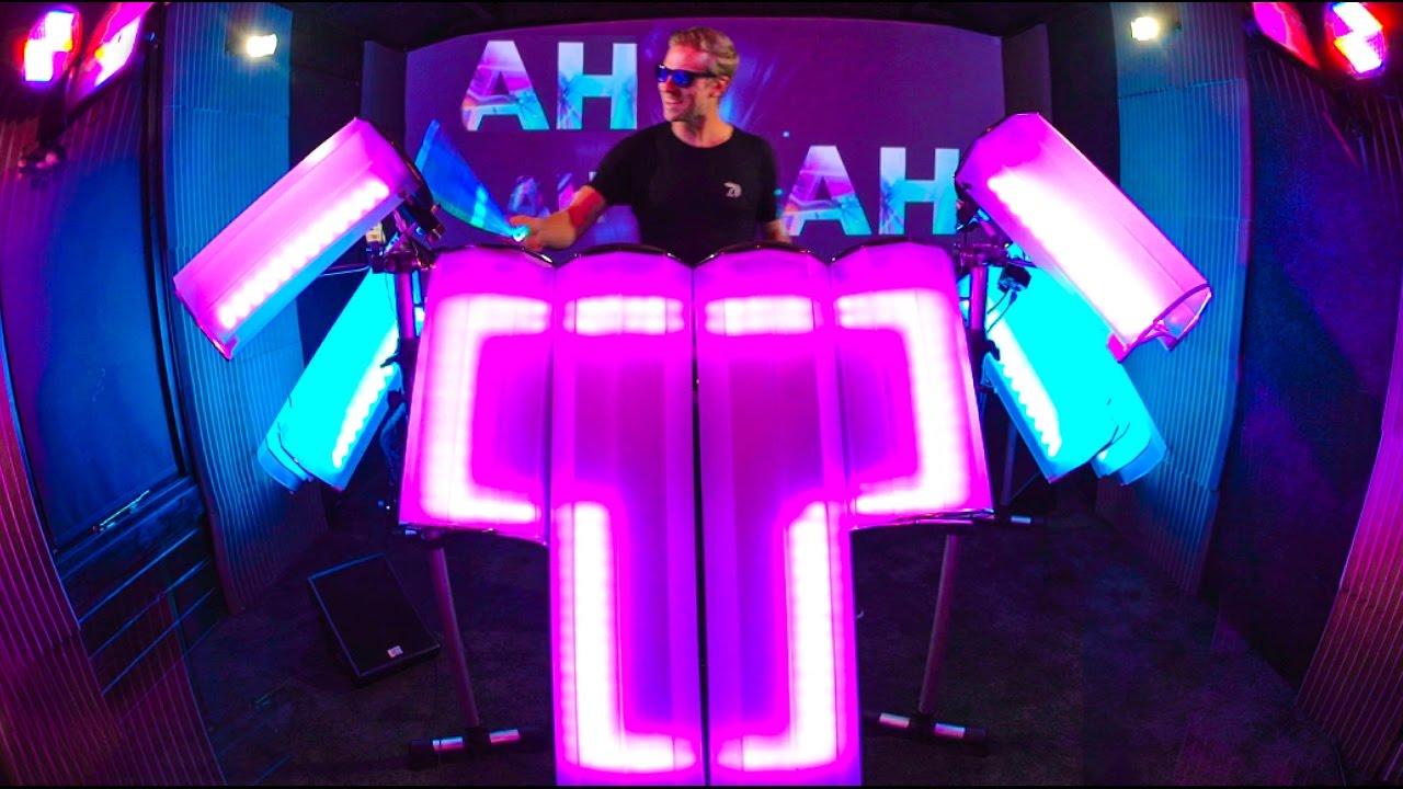 Drummer Creates Visual Way To Dj Afishal Youtube
