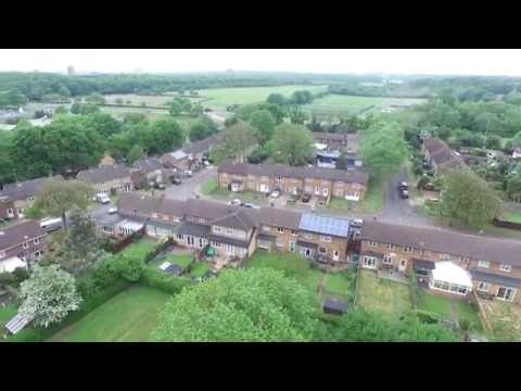 Aerial views of Broadwater Stevenage UK.