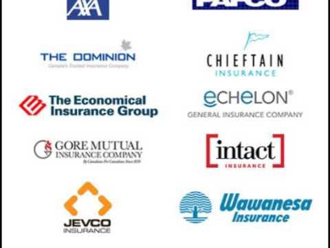 Auto Insurance Companies In Canada - YouTube