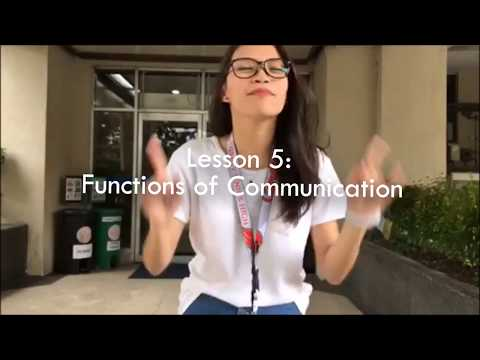 Functions Of Communication // Types Of Speech Context