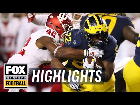 Indiana vs. Michigan | FOX COLLEGE FOOTBALL HIGHLIGHTS