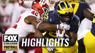 Indiana vs. Michigan | FOX COLLEGE FOOTBALL HIGHLIGHTS thumbnail
