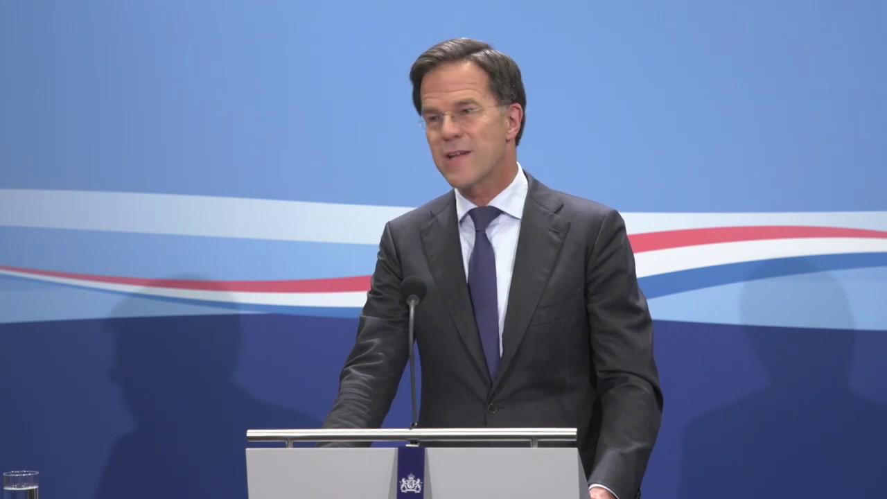 Integrale Persconferentie Van Minister-president Rutte Van
