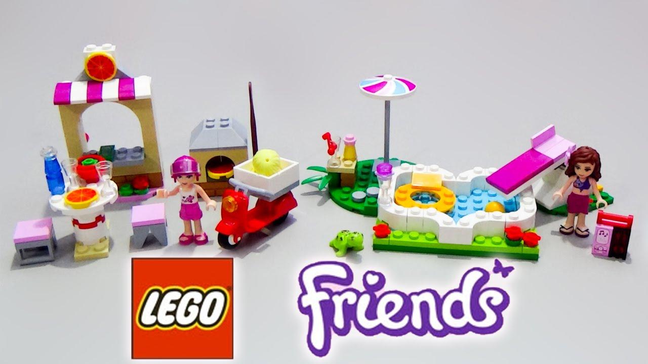 Lego friends olivia 39 s garden pool set and lego friends for Lego garden pool