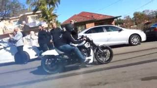 Crazy cars and bikes doing burnouts