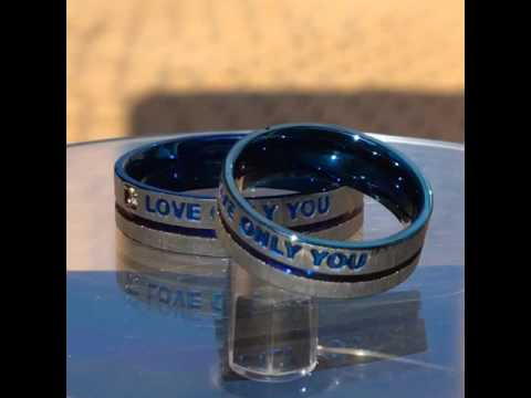 love only you design blue cross lovers titanium ring Review