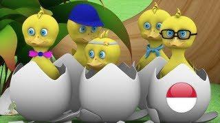 Lima Bebek Kecil | Lagu Anak  kartun anak| lagu anak terpopuler| Five Small Ducks | Little Treehouse