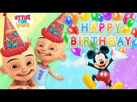 lagu-anak-selamat-ulang-tahun-badut-upin-ipin-dan-mickey-mouse