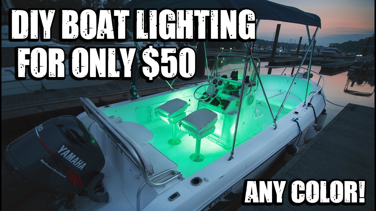 easy diy boat lighting for 50 and no wires