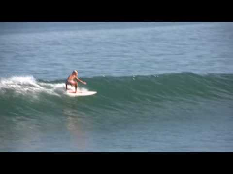 Surfer girl Grom Leilani Surfing Pavones Costa Rica