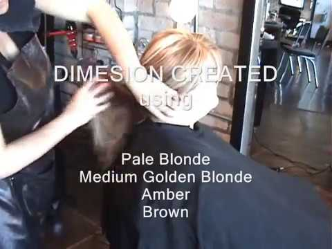 Multi Dimensional Blonde Foil Highlight And Lowlight Results Youtube