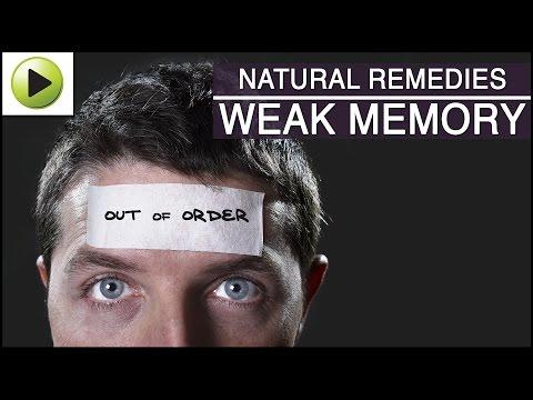 Weak Memory - Natural Ayurvedic Home Remedies