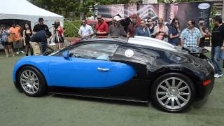 bugatti veyron pulling into festival of speed [HD]
