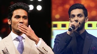 Dhanush's Epic Reaction When Anirudh Gets Emotional About Him | SIIMA 2019