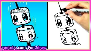 How to Draw Marshmallows - Adorable Kawaii Pictures - Fun2draw