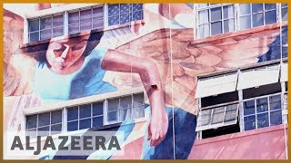 'Angelus': Gigantic mural depicting LA history taking shape