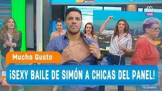 ¡Sexy baile de Simón a las chicas del panel! - Mucho gusto 2018