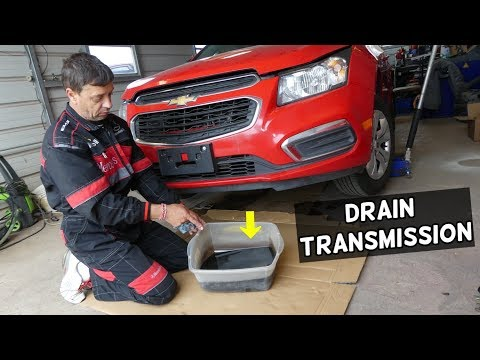HOW TO DRAIN CHANGE TRANSMISSION FLUID ON CHEVROLET CRUZE SONIC. TRANSMISSION DRAIN PLUG LOCATION