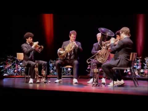 Brahms - Waltz 15, Op 39 - Canadian Brass LIVE in Sion, Switzerland