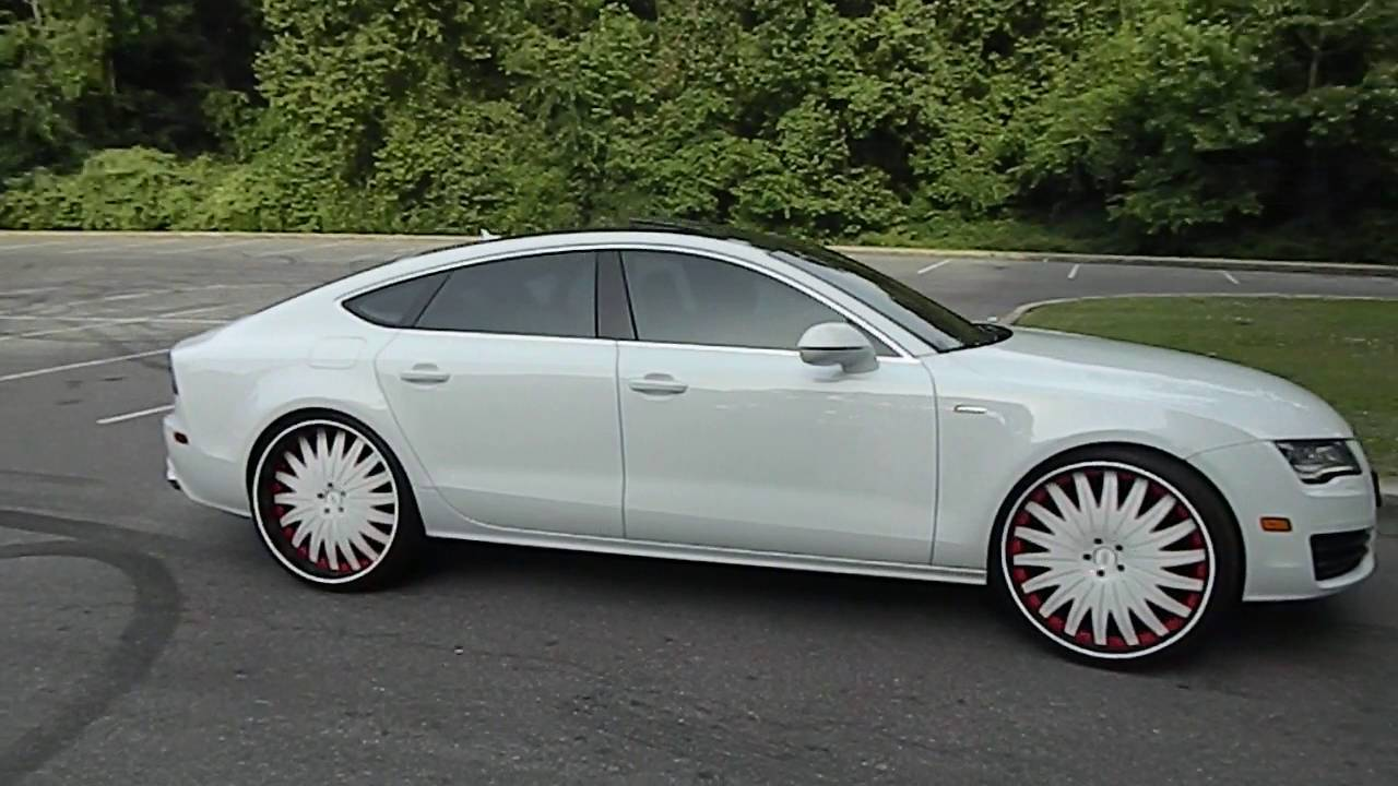 White On White Audi A7 On 24 Quot Amani Forged Wheels At Mlk