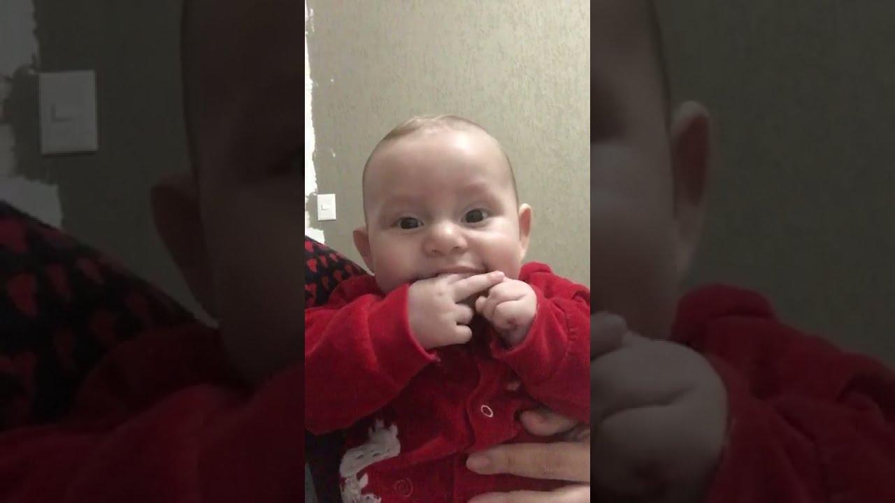 #short Bebe de 4 Meses Cantando - Israel e Rodolffo - MARCA EVIDENTE - Vou dar Paz pro Coração
