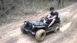 mini jeep mud fun