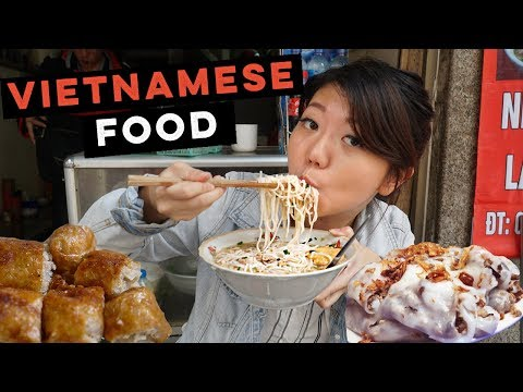 SAVORY VIETNAMESE STREET FOODS! 5 Dishes to Try in Hanoi, Vietnam (Besides Pho)