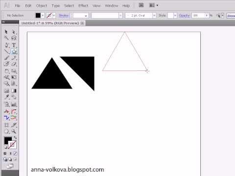 Adobe Illustrator для начинающих. Рисуем треугольник
