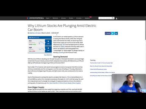 Lithium Market Update and Thoughts - May 18, 2018
