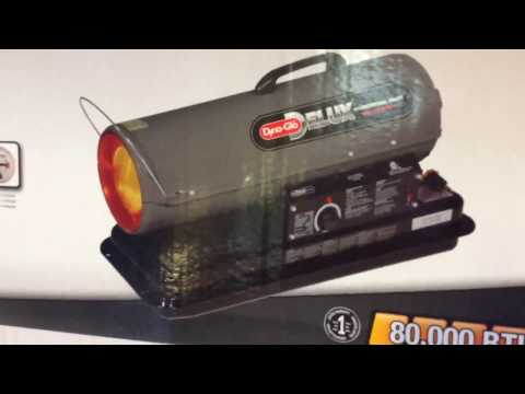 Diesel Kerosene forced air heater dynaglow 80,000 btu