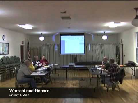Warrant and Finance - 01-02-2012