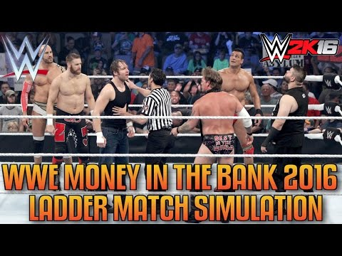 WWE Money In The Bank 2016 Ladder Match...