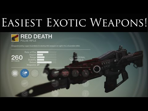 Destiny how to find all the exotic weapons funnydog tv